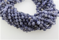 IOLITE MICRO FACETED ROUND - 6MM