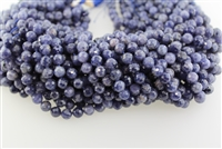 IOLITE MICRO FACETED ROUND - 8MM