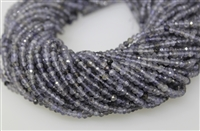 IOLITE FACETED ROUNDEL - 3*4mm