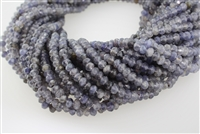 IOLITE FACETED ROUNDEL - 4*6mm