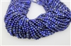 LAPIS LAZULITE FACETED ROUND - 4mm