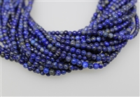 LAPIS LAZULITE SMOOTH ROUND NATURAL COLOR - 4mm