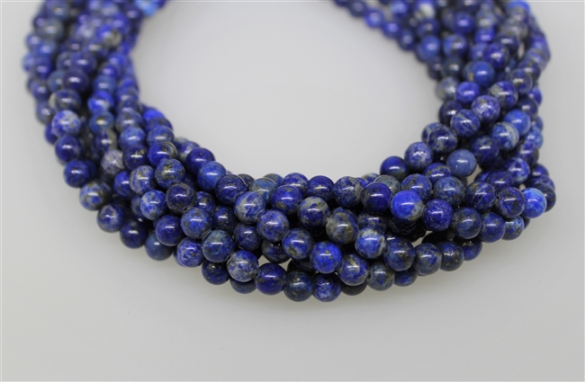 LAPIS LAZULITE SMOOTH ROUND NATURAL COLOR - 6mm