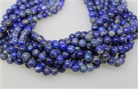 LAPIS LAZULITE SMOOTH ROUND NATURAL COLOR - 8mm