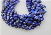 LAPIS LAZULITE SMOOTH ROUND NATURAL COLOR - 10mm