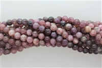 LEPIDOLITE LIGHT TONE SMOOTH ROUND - 8mm