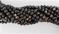BLACK GOLD MICA SMOOTH ROUND - 8mm