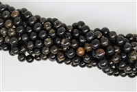 BLACK GOLD MICA SMOOTH ROUND - 10mm