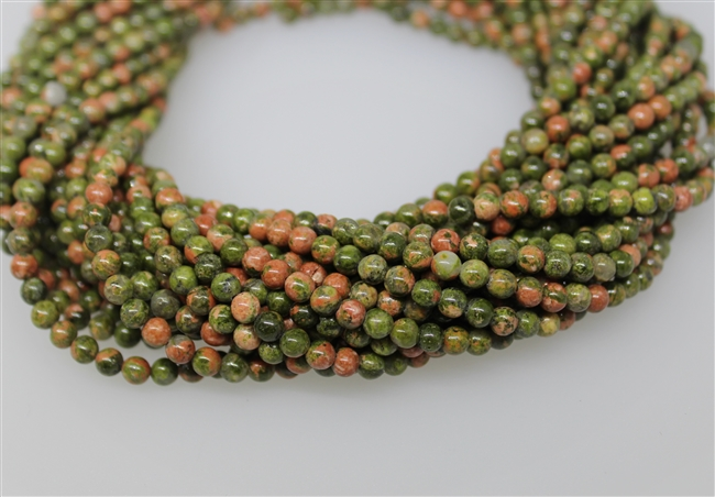 UNAKITE SMOOTH ROUND - 4mm