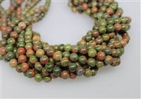 UNAKITE SMOOTH ROUND - 8mm