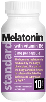 <b>Melatonin 3 MG</b> 60 Capsules