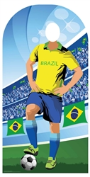 Star Cutouts Brazil (World Cup Football Stand-IN)