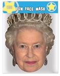 STAR CUTOUTS QUEEN MASK BRITISH ROYAL FAMILY