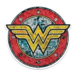 Wonder Woman Shield Wall Mounted Cardboard Cut Out (WMCCO)