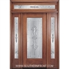 Ambassador 6-8 Full Lite Single and 2 Sidelights with Rectangular Transom