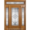 Lone Star 6-8 Full Lite Single and 2 Sidelights with Rectangular Transom
