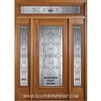 MAI Sarasota 6-8 Full Lite Single and 2 Sidelights with Rectangular Transom
