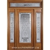 Symphony 6-8 Full Lite Single and 2 Sidelights with Rectangular Transom
