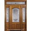 Sonnet 6-8 2/3 Arch Lite Single, 2 Sidelights and Rectangular Transom