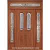 Queen Anne 6-8 Twin Radius Lite Single, 2 Sidelights and Rectangular Transom