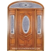 Queen Anne 6-8 Deluxe Half Oval Single, 2 Sidelights and Elliptical Transom