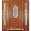 Queen Anne 6-8 Half Oval Single and 2 Sidelights