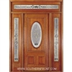 Queen Anne 6-8 Half Oval Single, 2 Sidelights and Rectangular Transom