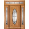New Century 6-8 Full Oval Single, 2 Sidelights and Rectangular Transom