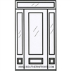 Serenade 8-0 2/3 Lite Single, 2 Sidelights and Rectangular Transom