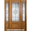 Lone Star 8-0 42 Inch 3/4 Lite Single and 2 Sidelights