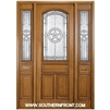 Lone Star 8-0 42 Inch 2/3 Arch Lite Single and 2 Sidelights