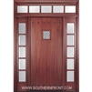 Solid 6-8 HTC800 Plank Single, 2 Sidelights and Rectangular Transom