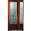 Courtlandt 8-0 x 3-6 3/4 Lite Single and 1 Sidelight