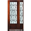 St. Charles 8-0 x 3-6 WO 3/4 Lite Single and 1 Sidelight