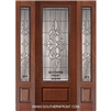 Courtlandt 8-0 3/4 Lite Cherry 1 Panel Single and 2 Sidelights