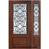 Florence GBG 6-8 3/4 Lite Cherry 1 Panel Single and 1 Sidelight