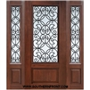 Florence GBG 6-8 3/4 Lite Cherry 1 Panel Single and 2 Sidelights