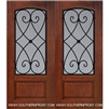 Charleston 6-8 Arch Lite FG WI Cherry 1 Panel Double