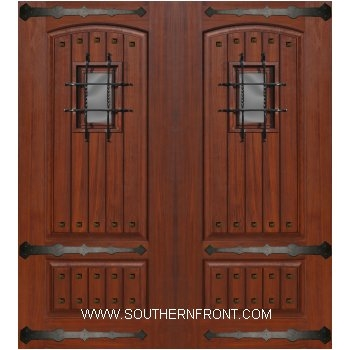 sc 1 st  Southern Front Doors & 6-8 V Grooved Madrid Speakeasy Straps \u0026 Square Clavos Double