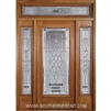 "Symphony 6-8 32"" Full Lite Single, 2 Sidelights and a Rectangular Transom"