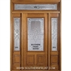 "Sonnet 6-8 32"" 2/3 Lite Single, 2 Sidelights and a Rectangular Transom"