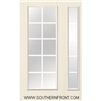 S128 6-8 Simulated Divided 10 Lite Grill Between Glass Single and 1 Sidelight