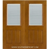 FC140-RT 6-8 Fiber Classic Oak Fiberglass Raise/Tilt Internal Blinds Double
