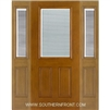 FC140-RT 6-8 Fiber Classic Oak Fiberglass Raise/Tilt Internal Blinds Single and 2 Sidelights