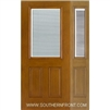 FC140-RT 6-8 Fiber Classic Oak Fiberglass Raise/Tilt Internal Blinds Single and 1 Sidelight