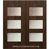 Santa Monica 6-8 Fiberglass Contemporary Door Double
