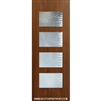 Santa Monica 8-0 Fiberglass Contemporary Door Single