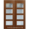Santa Monica 8-0 Fiberglass Contemporary Door Double