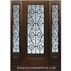 St Charles 8-0 3/4 Lite FG WI Cherry 1 Panel Single and Two Sidelights