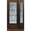 St Charles 8-0 3/4 Lite FG WI Cherry 1 Panel Single and 1 Sidelight